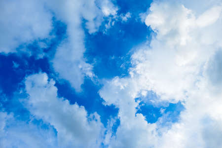 Clouds and blue sky above the head in the fine weather day Stok Fotoğraf