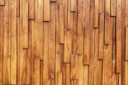 Abstract designed wood plank, wood wall design outside the modern building Stok Fotoğraf