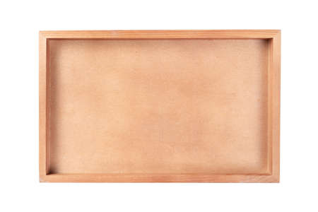 Picture wood frame or tray isoalted on white background