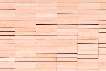 Abstract wood background and texture, stack of wooden blocks of domino