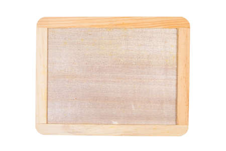 Small DIY wood board with border made of plywood isolated on white background