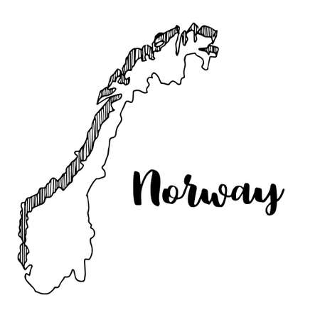 Norway Outline Map Cliparts Stock Vector And Royalty Free - Norway map drawing