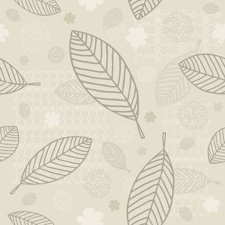 verdure: Seamless Leaves Background
