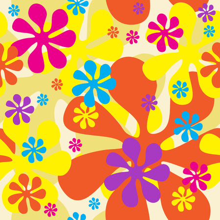 jointless: Seamless Flowers Background (can be repeated seamlessly as many times as needed)