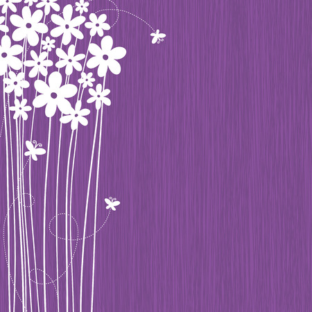 Floral Background With Space For Your Text Vector