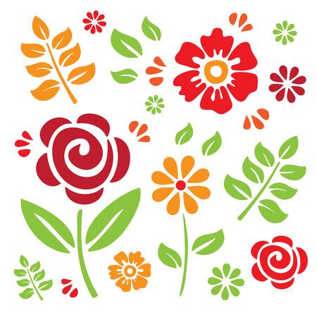 orange rose: Floral Elements
