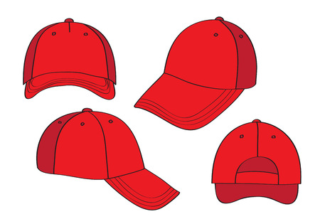 Blank Cap (different points of view) With Space For Your Design Vector