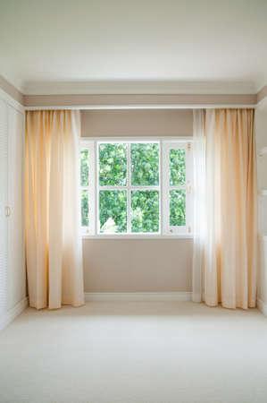 window curtain: empty room