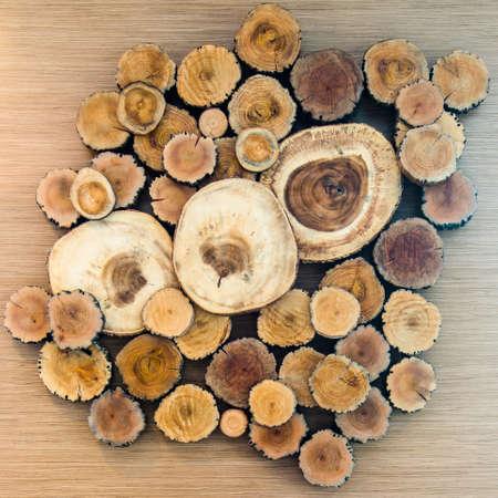 a pile of cut wood stump log texture Stock Photo - 17036227