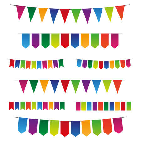 triangular banner: Vector bunting and garland Illustration