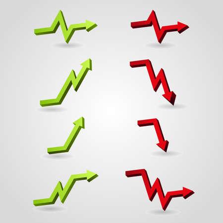 Reihe von Business-Pfeil Graph
