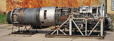 jetplane: Parte di un motore jetplane con un sacco di componenti
