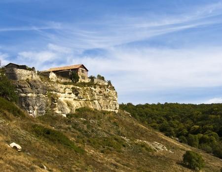house on a rock Crimea, Ukraine, the medieval fortress photo
