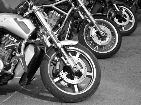 motorcycles on the streets photo