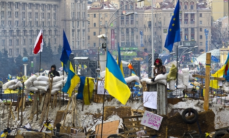 outcry: Kiev, Ukraine - December 13  protest against the president Yanukovych didn