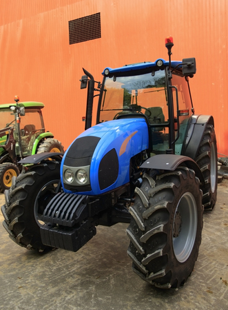 Tractor in the yard of the farmer
