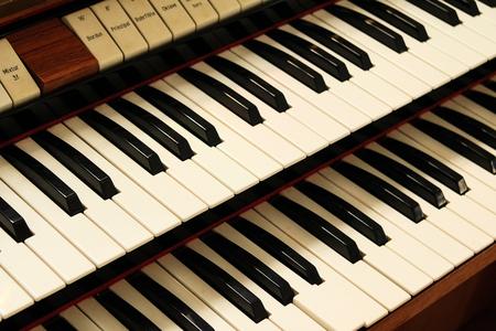 Old harpsichord keys Banco de Imagens