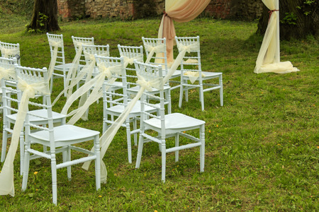 Preparation for the wedding ceremony. Banco de Imagens