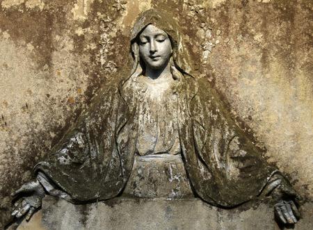Madonna on a stone fresco.