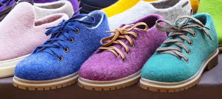 this shoes made of felt natural material.