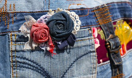 jeans decoration made with their own hands.