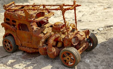toys with their own hands. machine from scrap.