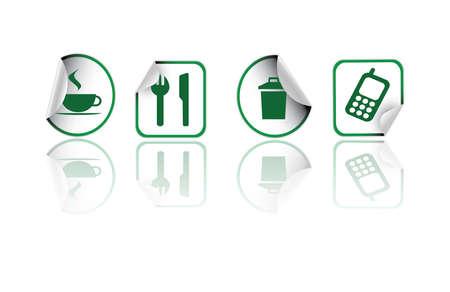 stiker: green stiker icons