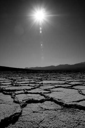 salt flat: Badwater dry salt flat in Death Valley