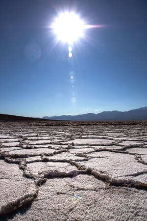 Bad water droog zout flat in Death Valley