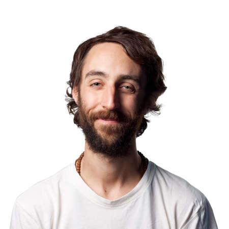 Man with beard smiles Stock Photo - 6875215