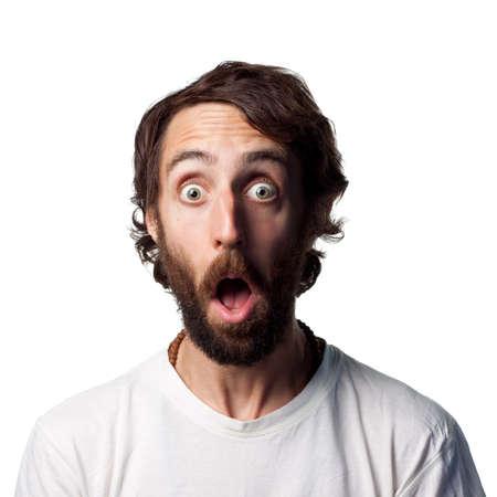 Een blik van schok op deze jonge mans gezicht Stockfoto - 6875240
