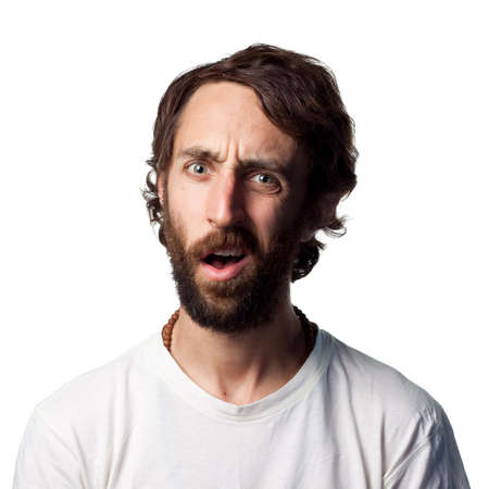 persona confundida: Hombre de aspecto muy confundido
