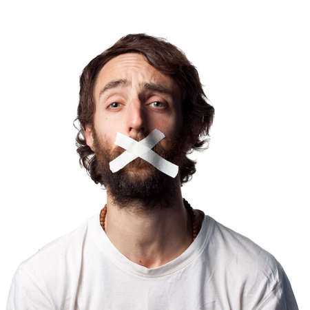 silenced: Silenced by the powers that be Stock Photo