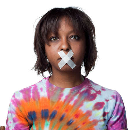 Silenced African American woman photo