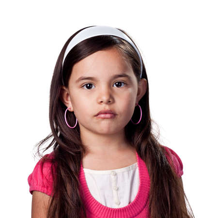 Serious looking young girl