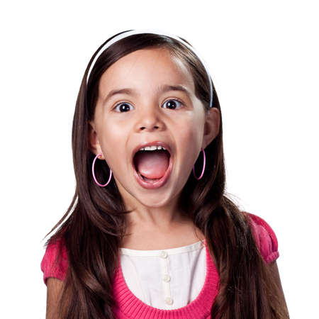 loud: Child not afraid to be loud Stock Photo