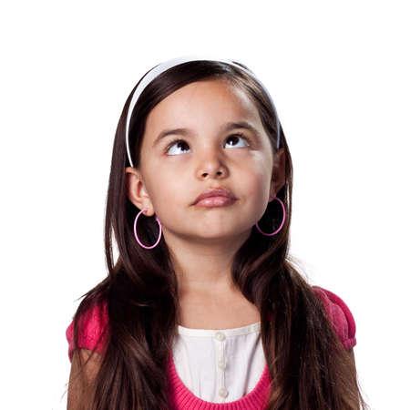 Pretty young girl crossing her eyes 免版税图像