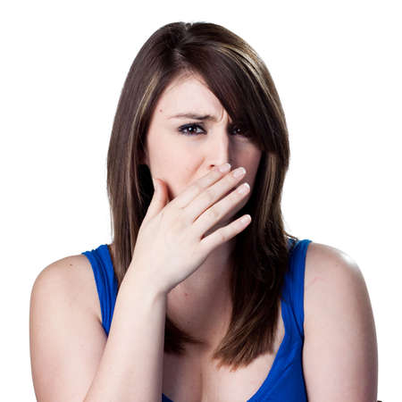 smell: Cubriendo su nariz despu�s de un mal olor