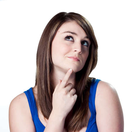 Young woman deciding what to do Stock Photo - 6906889