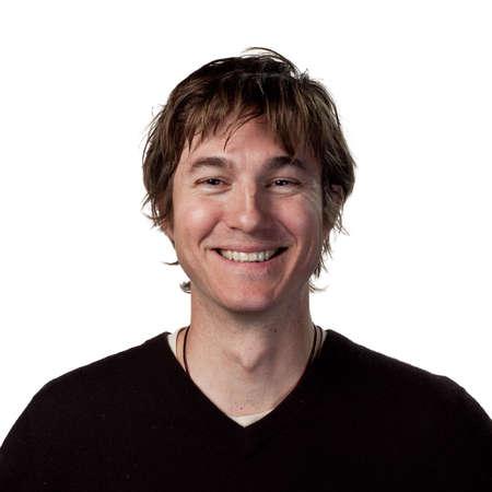 lachendes gesicht: Junger Mann mit einem echten L�cheln