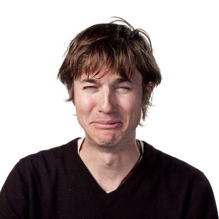 Triste uomo spargimento lacrime  Archivio Fotografico - 6907944
