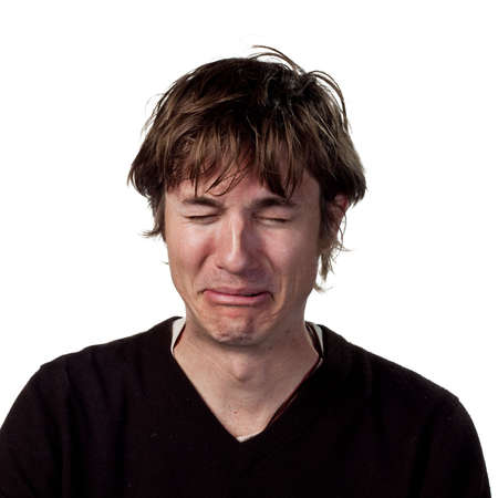 personas tristes: Hombre triste derramar l�grimas