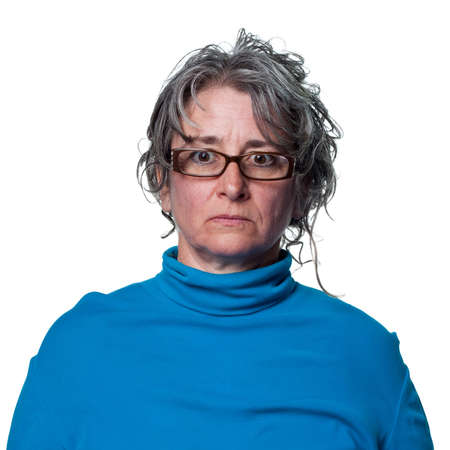 Stern look from this middle aged woman Stock Photo - 6905869