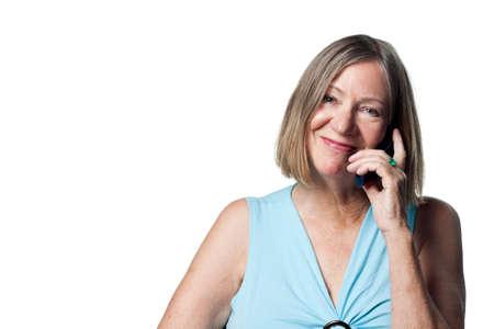 oap: Senior lady talking on a cell phone