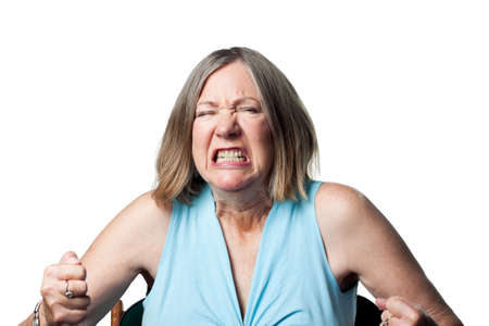 oap: Woman is upset and angry, letting it all out