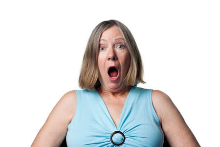 Woman is surprised to have won a prize Stock Photo - 6908954