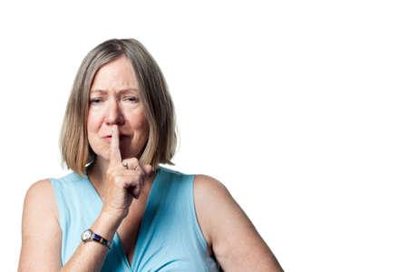 Vrouw vertellen van kinderen te zijn stil, teveel ruis