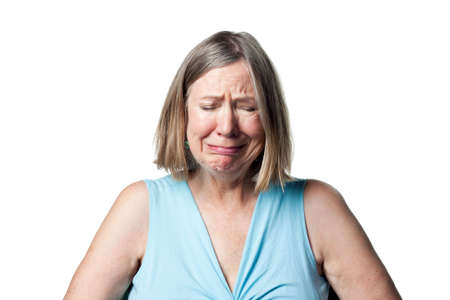 Older woman crying, shedding tears and generally upset Stock Photo - 6908965