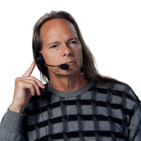 Man answering the phones, sales service support photo