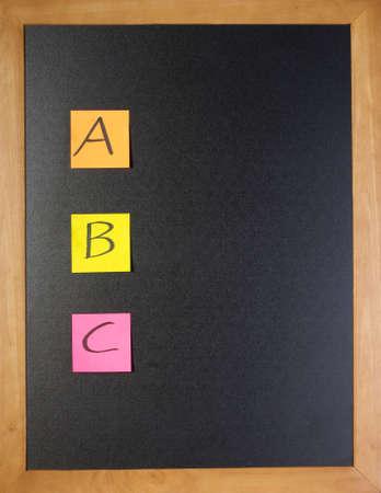 Simple list of ABC on a blackboard Stock Photo - 12040111